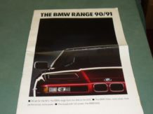 "BMW ""THE BMW RANGE 90/91"" OUTSIZED brochure 1991"